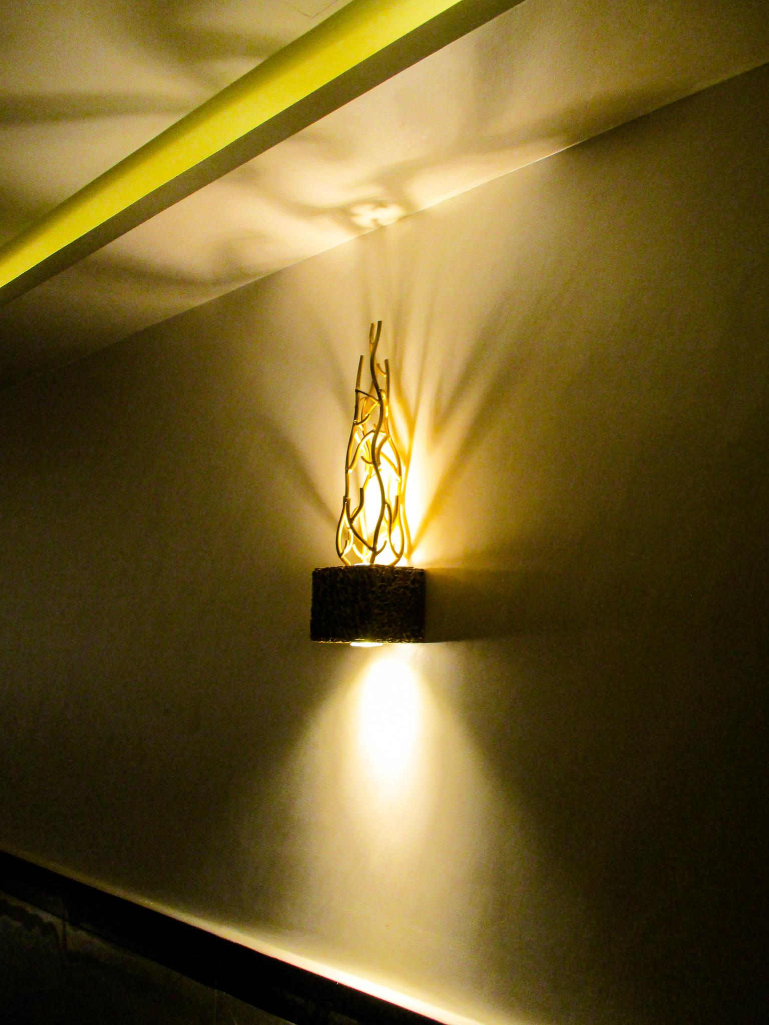 Gorgeous architectural lighting features set the stage for a fantastic ambience