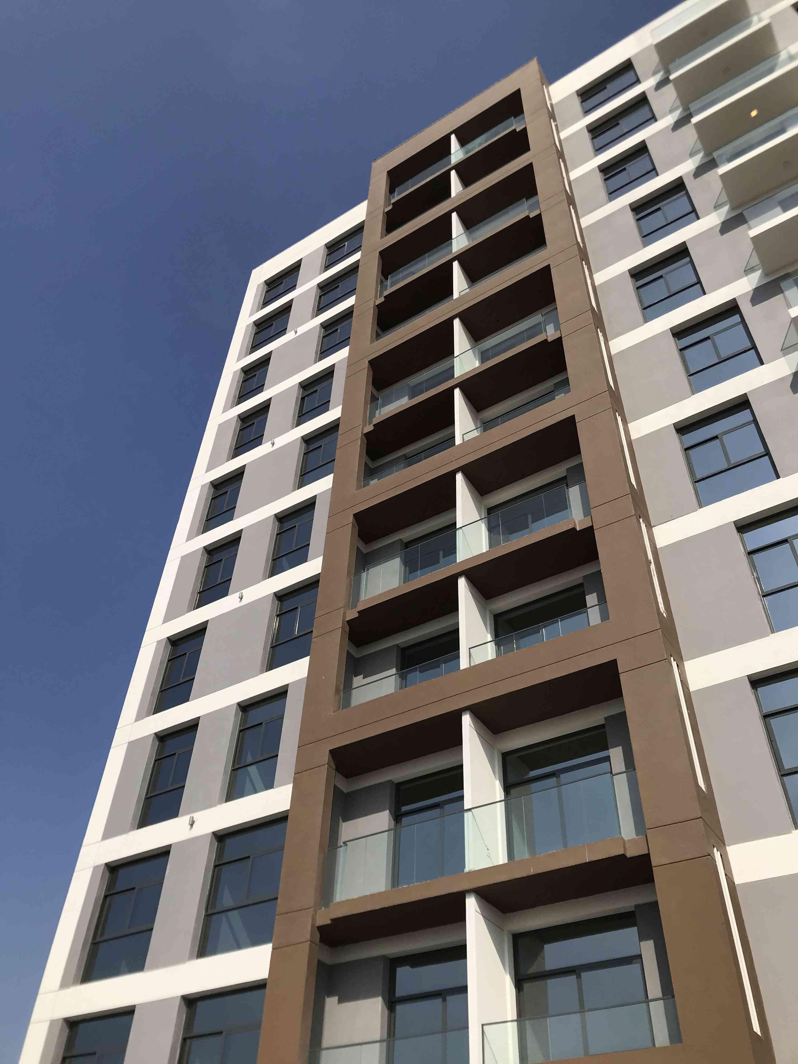 External facade for Wasl properties at Al Garhoud