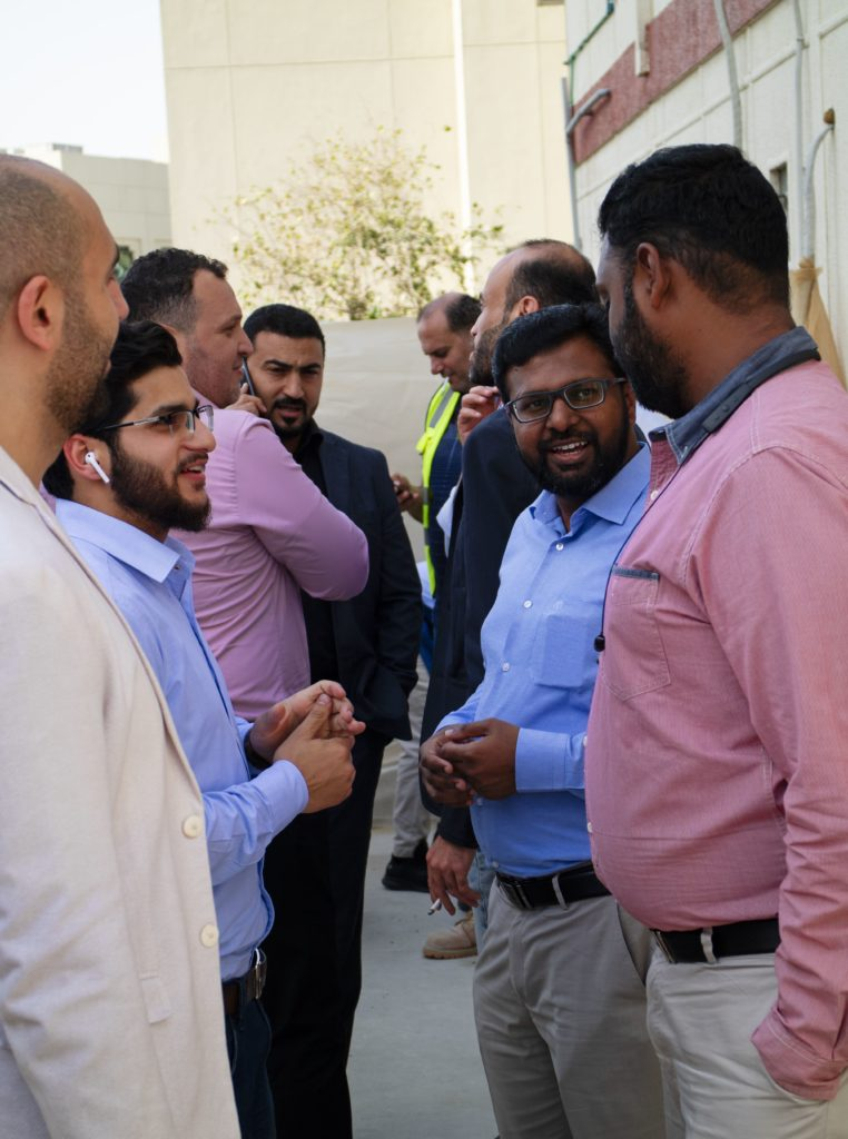 The RAQ projects team with Federal Engineering Consultant at the Wasl Properties Business Lunch on SIte