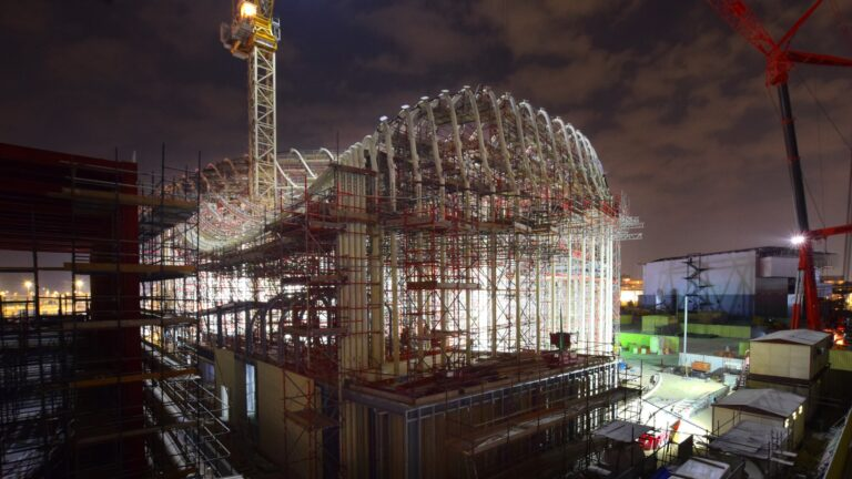 Italy Pavilion at Expo 2020 in the night