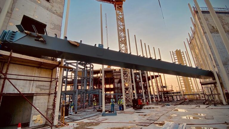 RAQ Italy Pavilion Erection of Skywalk Zone E Expo 2020