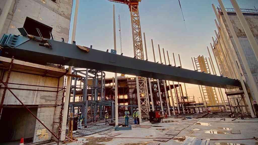 RAQ Italy Pavilion Erection of Skywalk Zone E Expo 2020