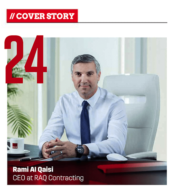 Rami Al Qaisi ranks 24 in the power hour list of 2020 construction executives in the Middle East